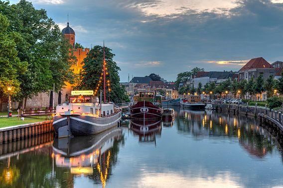 Thorbeckegracht Zwolle met Pelsertoren