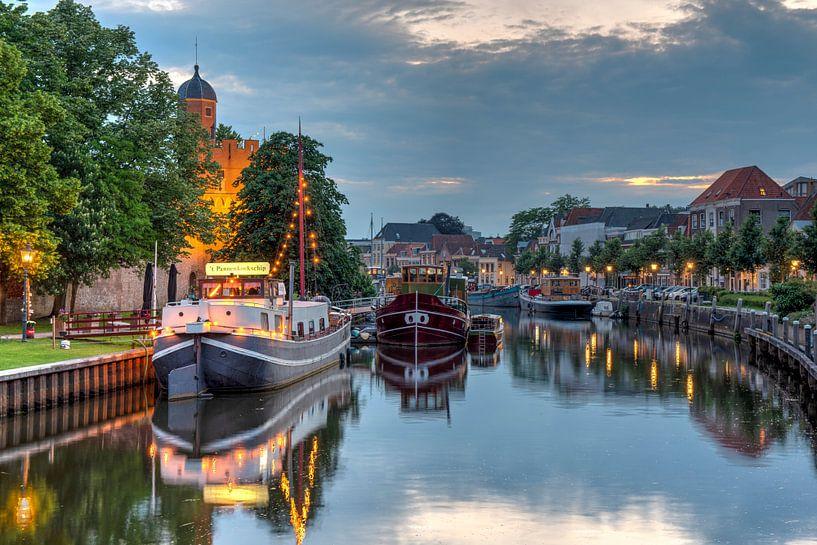 Thorbeckegracht Zwolle avec la tour Pelser sur Fotografie Ronald