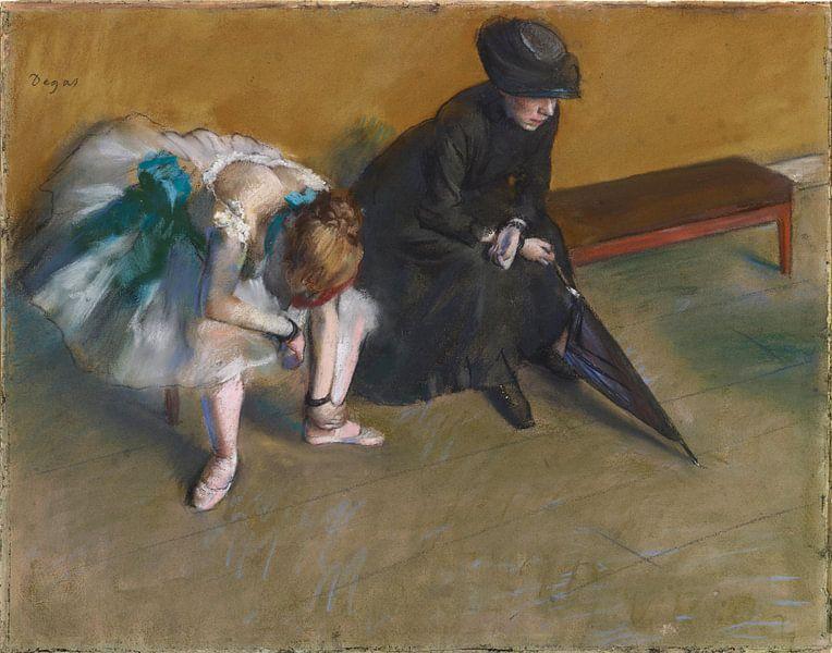 Edgar Degas. Waiting von 1000 Schilderijen