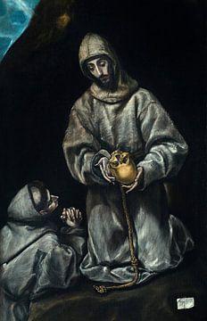 Heiliger Franziskus in Meditation mit Bruder Leo - El Greco (Doménikos Theotokópoulos), 1600-1605