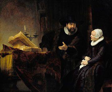 Cornelis Claesz Anslo im Gespräch mit seiner Frau Aaltje, Rembrandt van Rijn