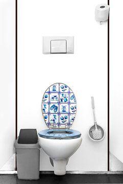 Delfts Blauw toilet van Kees Gruijters