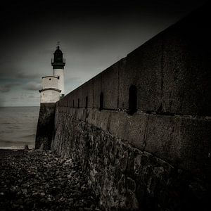 Behind the lighthouse