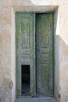 Groene deur van
