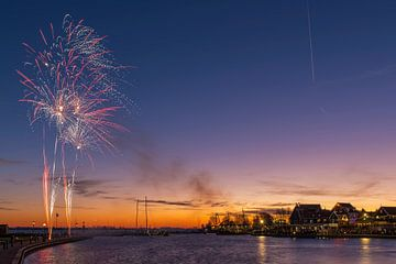 Haven Volendam - Sinterklaasintocht met vuurwerk van Jack Koning