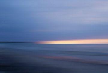 Blauwe zonsopgang aan de Tromper Wiek van