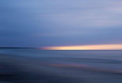 Blauwe zonsopgang aan de Tromper Wiek