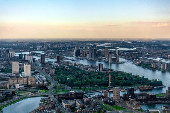 Rotterdam Skyline van Roy Poots