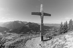 Summit cross on the Hirschberg