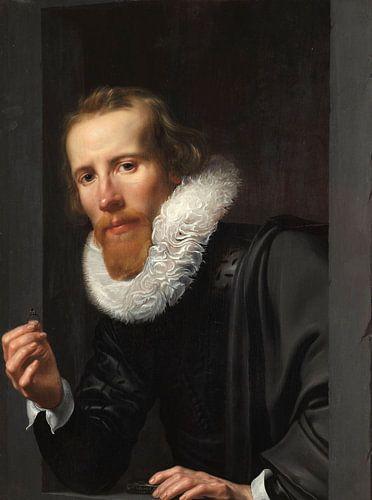 Portret van een goudsmid, Werner van den Valckert van Meesterlijcke Meesters