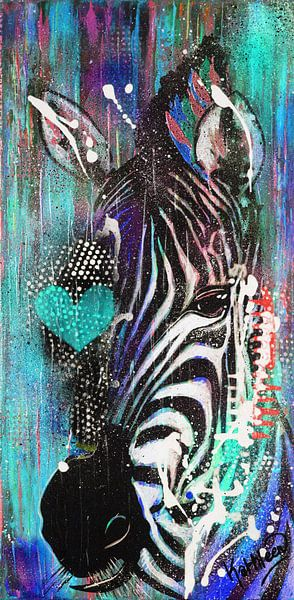 Zebra Liebe von Kathleen Artist Fine Art