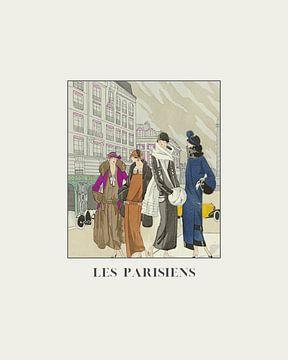 Les Parisiens - vie de rue à Paris, impression de mode Art Déco sur NOONY