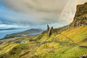 Rainbow at the Old Man of Storr, Isle of Skye