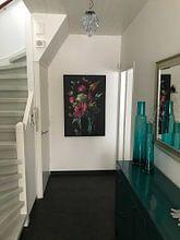 """Klantfoto: """"Royal Deluxe"""" stilleven in een glaze vaas Sander van Laar van Sander Van Laar, op canvas"""