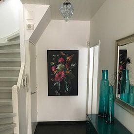 """Kundenfoto: """"Royal Deluxe"""" Stilleben in einer Glasvase Sander van Laar von Sander Van Laar, auf leinwand"""