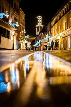Fürth Rathaus mit Licht