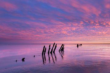 Trou de boue au lever du soleil sur Anja Brouwer Fotografie