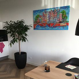 Photo de nos clients: Amsterdam sur Vrolijk Schilderij, sur toile