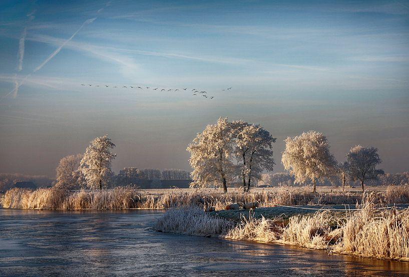 Winterscene van Franke de Jong