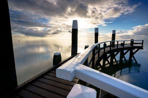 Haven van Oudeschild op waddeneiland Texel