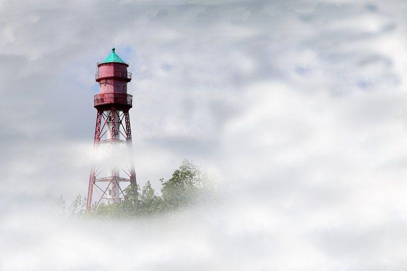 Leuchtturm im Nebel sur Rolf Pötsch