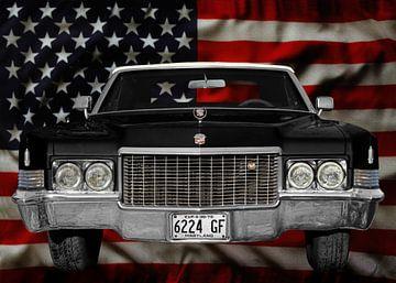 1970 Cadillac DeVille met Stars & Strepen van aRi F. Huber