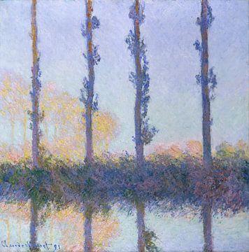Les quatre arbres, Claude Monet sur