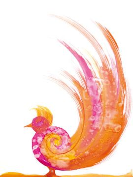 Oiseau de paradis sur Herma Egberts