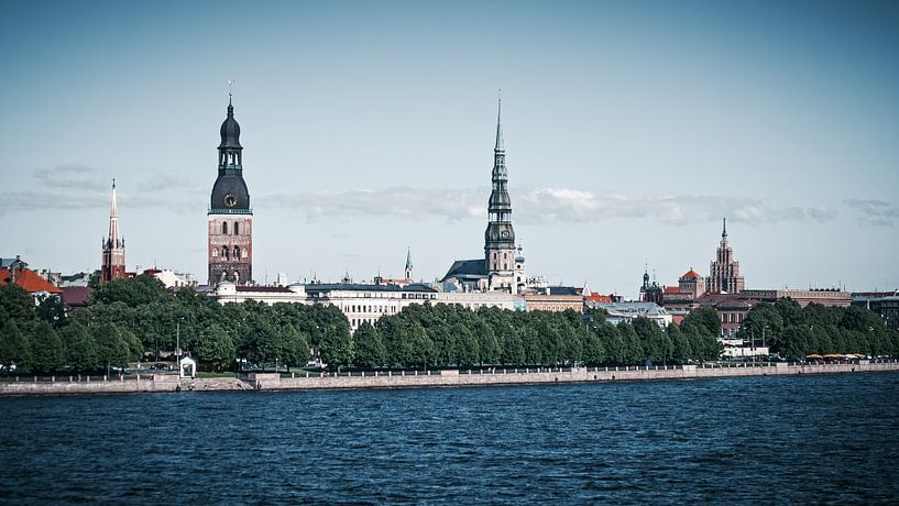 Riga - Skyline van Alexander Voss