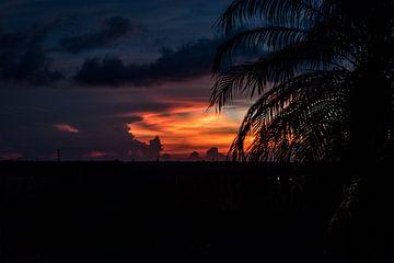 Sonnenuntergang Mexiko von Chantal van der Hoeven