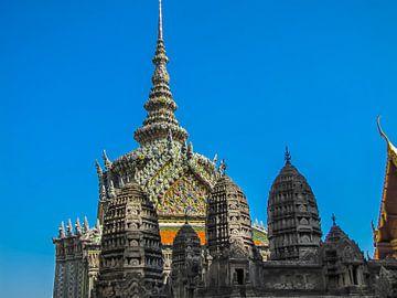 Rijkversierde tempel, Bangkok, Thailand van
