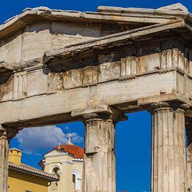 Dorische zuilen in Athene van Easycopters
