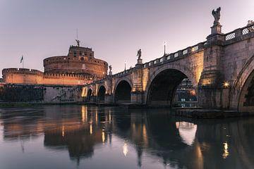 San-Angelo-Brücke und Engelsburg, Rom, Italien