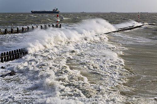 Storm in Vlissingen van