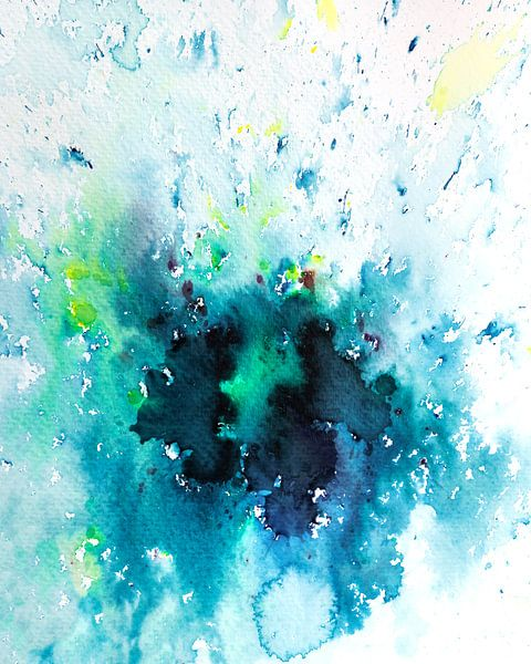 Indecision | Aquarel schilderij van WatercolorWall