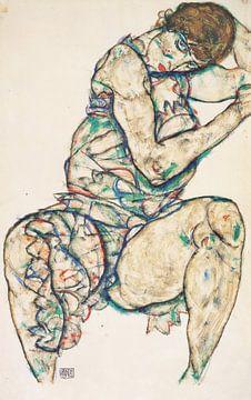 Sitzender Halbtakt, Egon Schiele - 1914 von Atelier Liesjes
