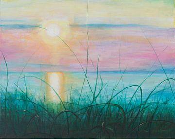 Untergehende Sonne von Renée Prevoo