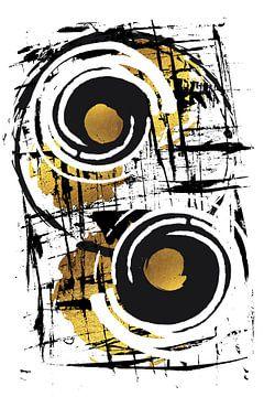Abstrakte Malerei Nr. 35 | gold von Melanie Viola