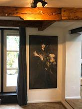 Klantfoto: Ritratto di Mademoiselle Lanthèlme, Giovanni Boldini, Giovanni Boldini. van Meesterlijcke Meesters, op canvas