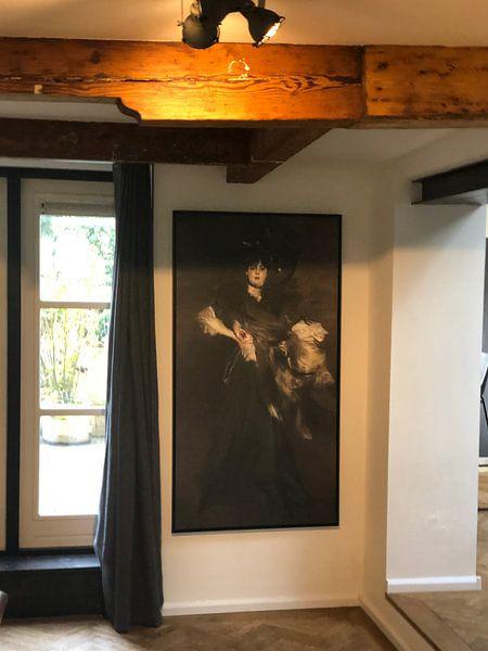 Kundenfoto: Ritratto di Mademoiselle Lanthèlme, Giovanni Boldini von Meesterlijcke Meesters, auf leinwand