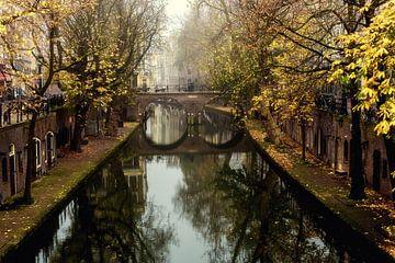 Gaardbrücke in Utrecht festgelegt von der Hamburgerbrücke von De Utrechtse Grachten