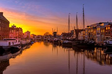 Het galgewater in Leiden von John Ouds
