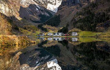 Fjord Reflecties, Noorwegen van Adelheid Smitt