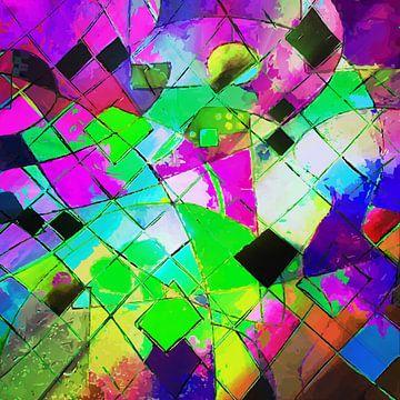 Modernes, abstraktes digitales Kunstwerk - Formen und Linien von Art By Dominic