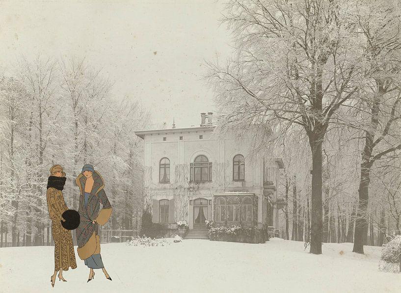 Dames in Winterlandschap van Irene Hoekstra