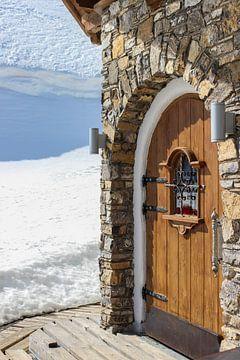 Hüttentür im Schnee sur Andreas Stach