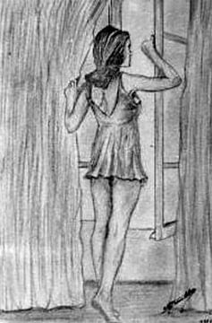 vrouw aan het raam-woman at the window-femme à la fenêtre-femme à la fenêtre von aldino marsella
