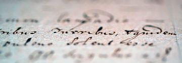 Alte Handschrift von Bert de Boer