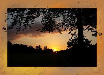 Zonsondergang in Bos van Nathalie Antalvari