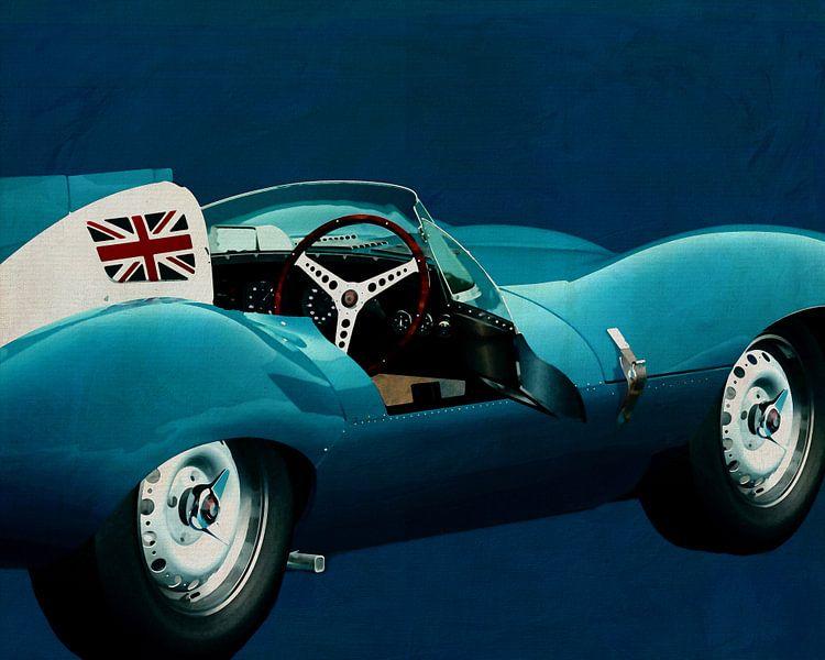 Jaguar Type D 1956 blauw van Jan Keteleer